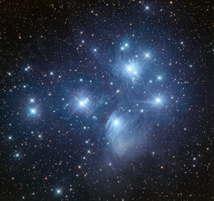 "The open star cluster known as the Pleiades or ""The Seven Sisters"""
